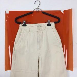 Denim - H&M canvas utility high-waist beige jeans